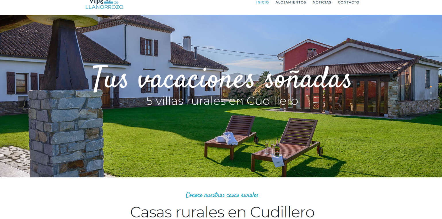 Villas de Llanorrozo new website
